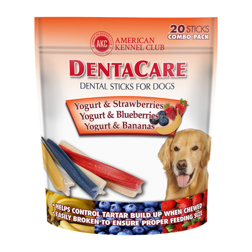 DentaCare Dental Sticks for Dogs Yogurt & Strawberries, Yogurt & Blueberries, Yogurt & Bananas