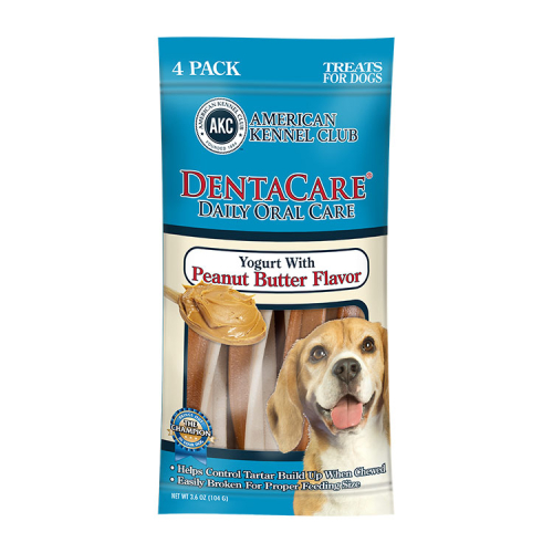 AKC PEANUT BUTTER DENTAL STICKS 4 PACK